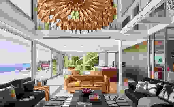 Casa Sant Feliu de Guíxols SOLER-MORATO ARQUITECTES SLP Salones de estilo mediterráneo Hierro/Acero Blanco