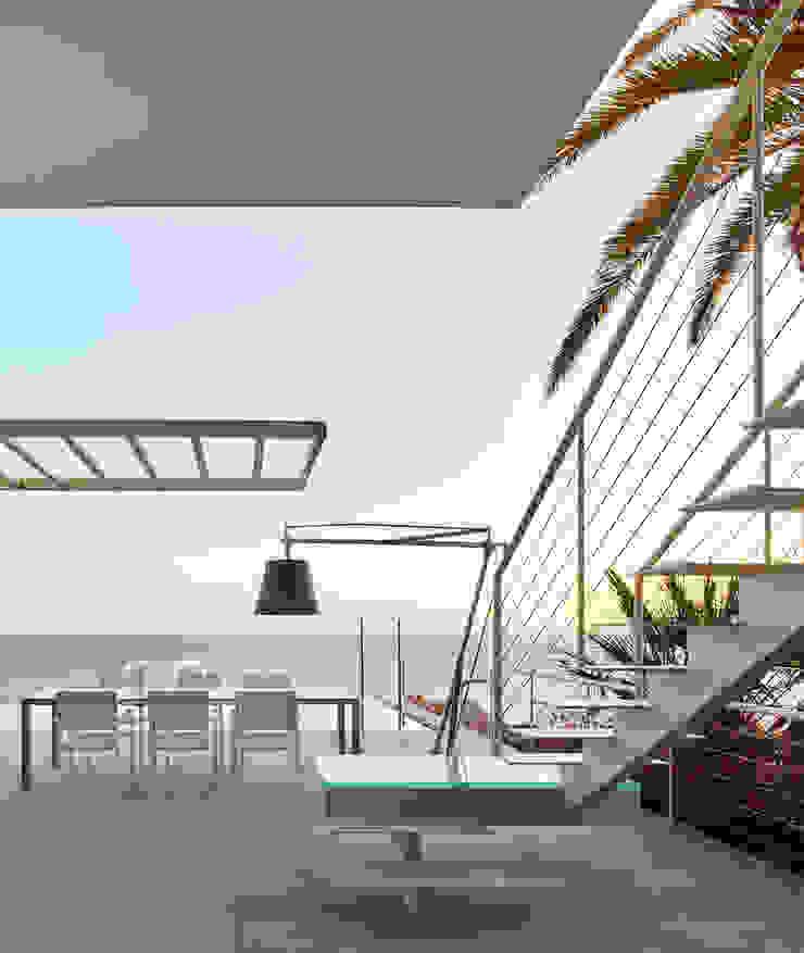 Casa Sant Feliu de Guíxols SOLER-MORATO ARQUITECTES SLP Casas de estilo mediterráneo Hierro/Acero Blanco