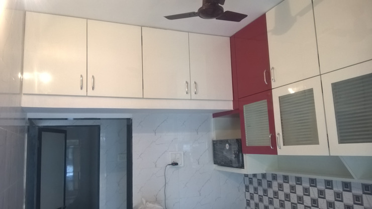 1 BHK RESIDENTIAL PROJECT @2016 Modern kitchen by SHARADA INTERIORS Modern