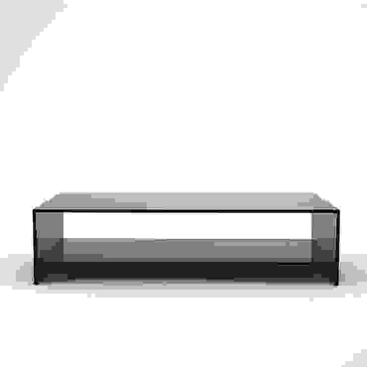 Judd Smoked Glass Coffee Table With Shelf Homify