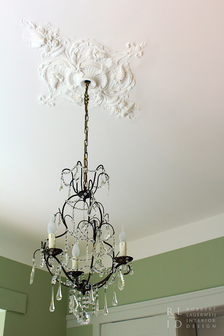 Herenhuis jaren '20 Oegstgeest Klassieke muren & vloeren van Robbert Lagerweij Interior Design Klassiek Koper / Brons / Messing