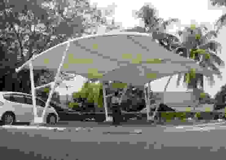 Tenda Membrane:modern  oleh shaka awning, Modern Besi/Baja