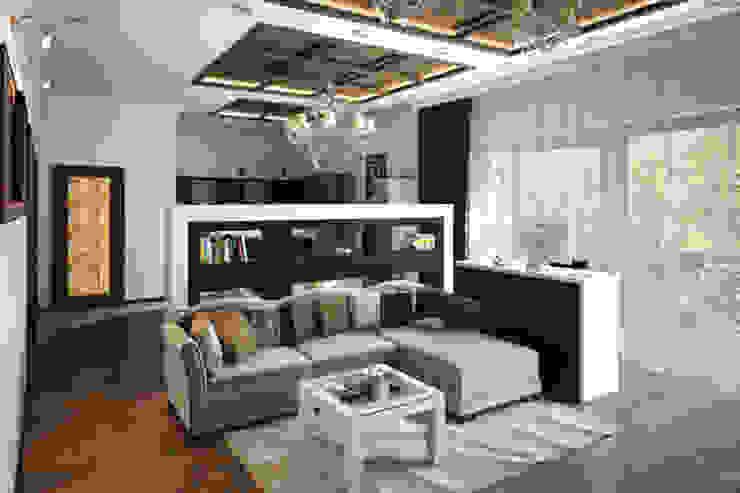 Ruang Keluarga Klasik Oleh Вира-АртСтрой Klasik
