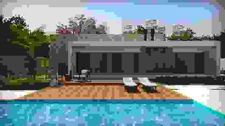 Casas modernas de Cíntia Schirmer | arquiteta e urbanista Moderno Ladrillos