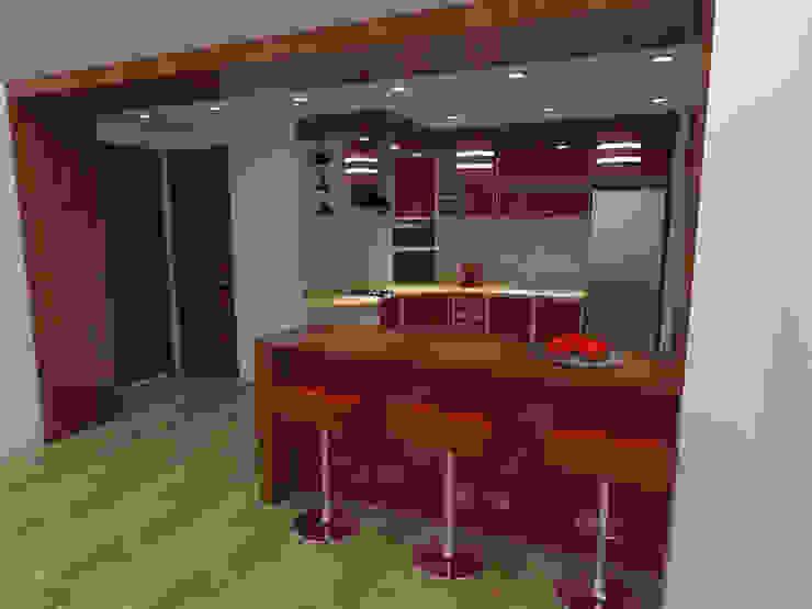 interior cocina de Grupo AGI-7 Moderno