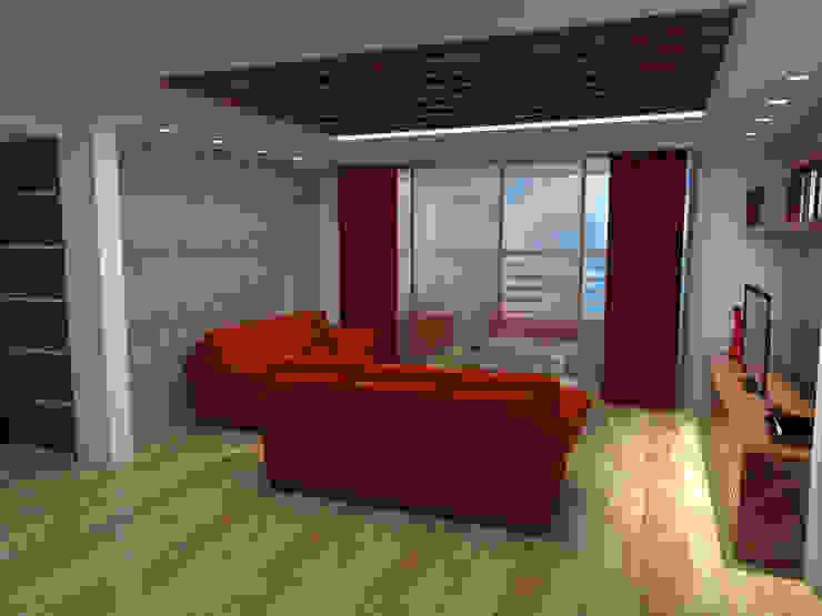 interior sala de Grupo AGI-7 Moderno