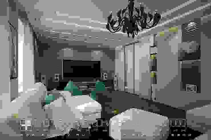 غرفة المعيشة تنفيذ Мастерская архитектора Аликова