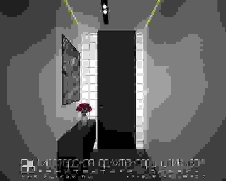 الممر الحديث، المدخل و الدرج من Мастерская архитектора Аликова حداثي