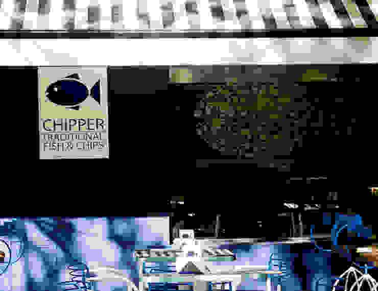 RESTAURANTE CHIPPER Gastronomía de estilo ecléctico de Lucy Attwood Interior Design + Architecture Ecléctico
