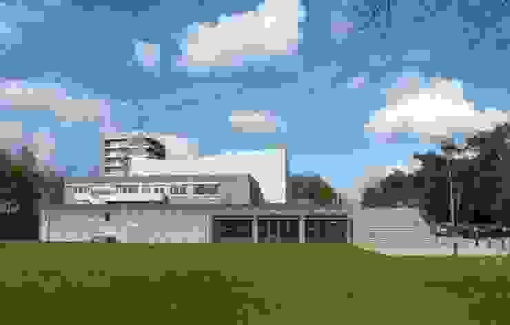 Entree onder trap Moderne gangen, hallen & trappenhuizen van MOStudio Modern Steen
