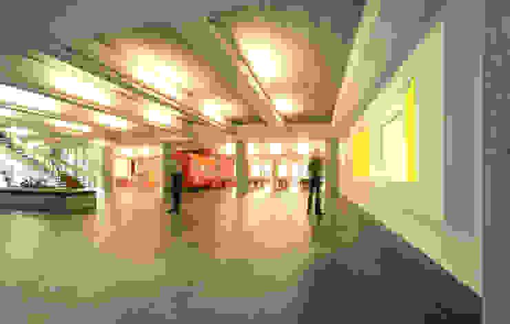 Verbouwing GGz Nijmegen Moderne gangen, hallen & trappenhuizen van MOStudio Modern Gewapend beton