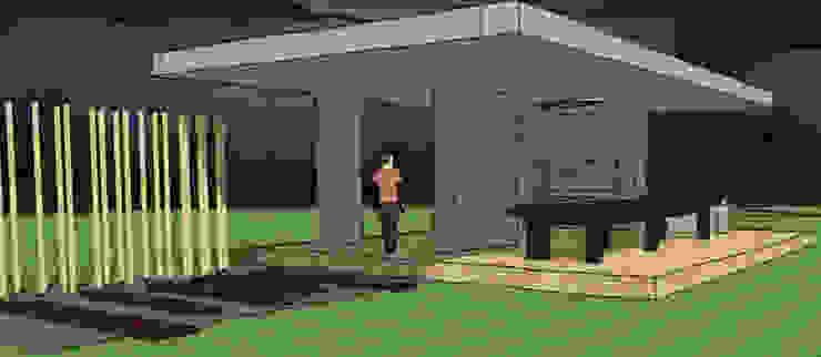 Minimalistyczny balkon, taras i weranda od AUREA Estudio de Diseño Minimalistyczny Beton