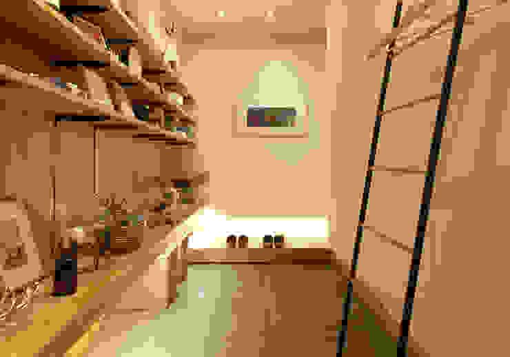 nano Architects 隨意取材風玄關、階梯與走廊 木頭 Wood effect