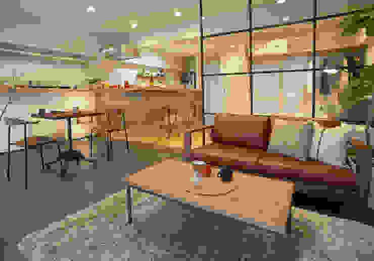 リビング オリジナルデザインの リビング の nano Architects オリジナル 木 木目調