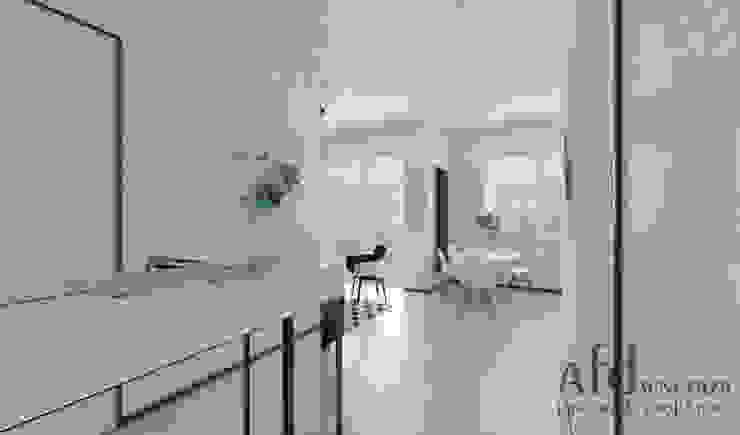 斯堪的納維亞風格的走廊,走廊和樓梯 根據 AFD Pracownia Projektowa 北歐風