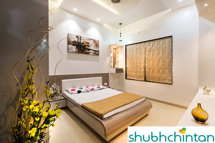 PARENTS BED ROOM Modern style bedroom by homify Modern Plywood