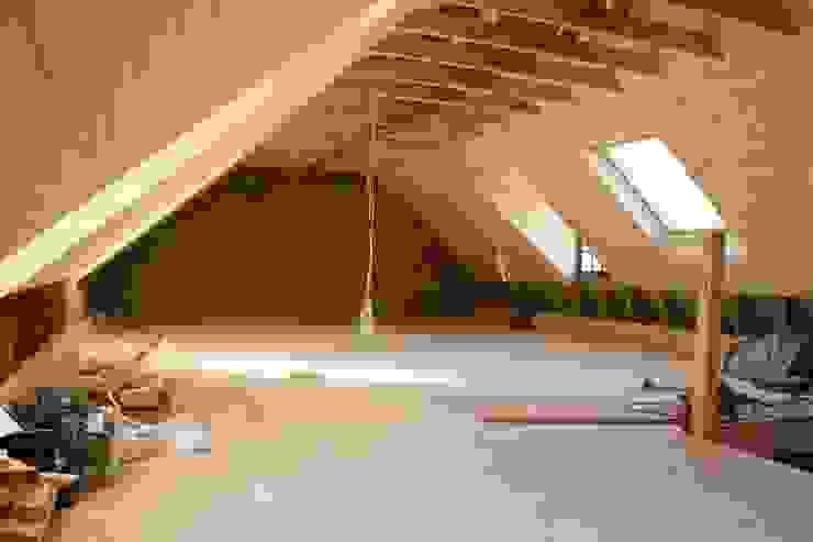 Loft room , staircase and Velux roof windows Minimalist corridor, hallway & stairs by Loftspace Minimalist