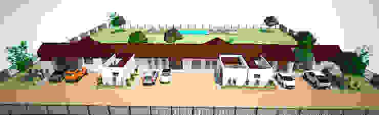Vista general de conjunto Casas estilo moderno: ideas, arquitectura e imágenes de DIMA Arquitectura y Construcción Moderno