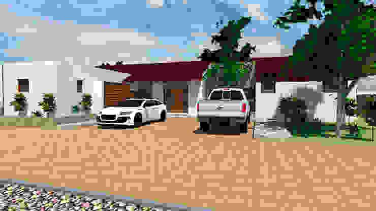 Casa 3-Vista acceso Casas estilo moderno: ideas, arquitectura e imágenes de DIMA Arquitectura y Construcción Moderno