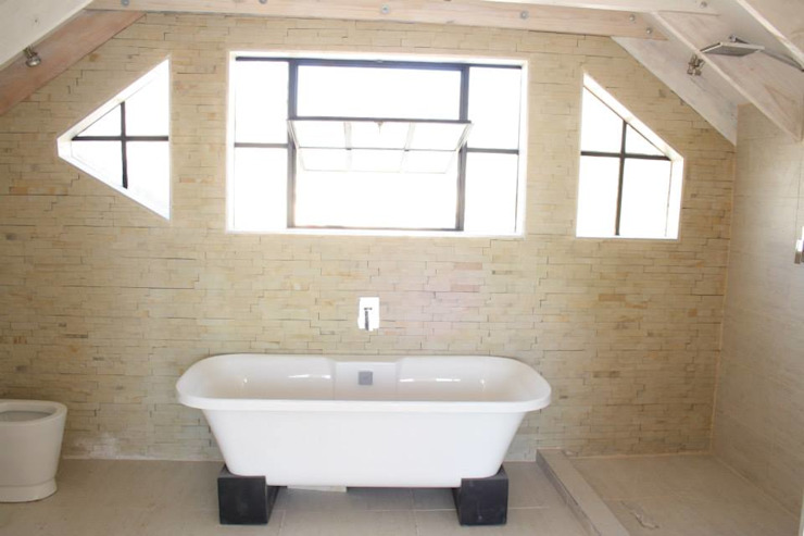 Loft room , staircase and Velux roof windows Classic style bathroom by Loftspace Classic