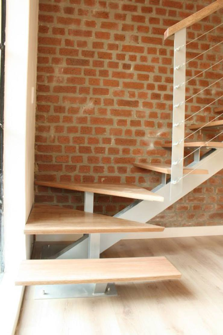 Loft room , staircase and Velux roof windows Classic style corridor, hallway and stairs by Loftspace Classic