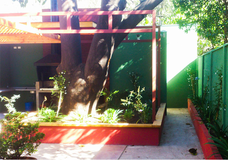 Detalle de jardinera Casas modernas de DIMA Arquitectura y Construcción Moderno