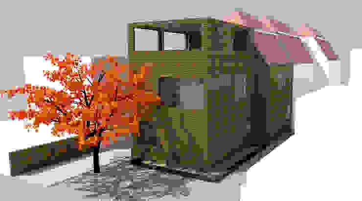 Vista exterior proyecto Casas estilo moderno: ideas, arquitectura e imágenes de DIMA Arquitectura y Construcción Moderno