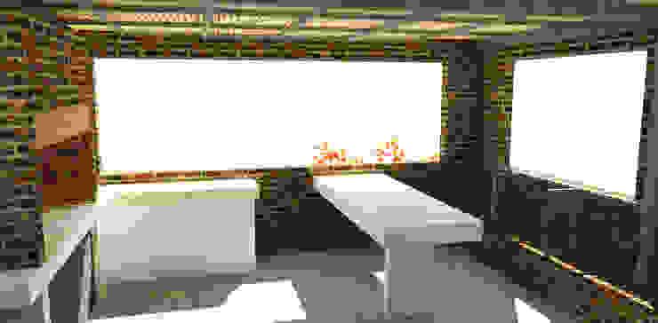 Vista desde terraza superior Balcones y terrazas modernos de DIMA Arquitectura y Construcción Moderno