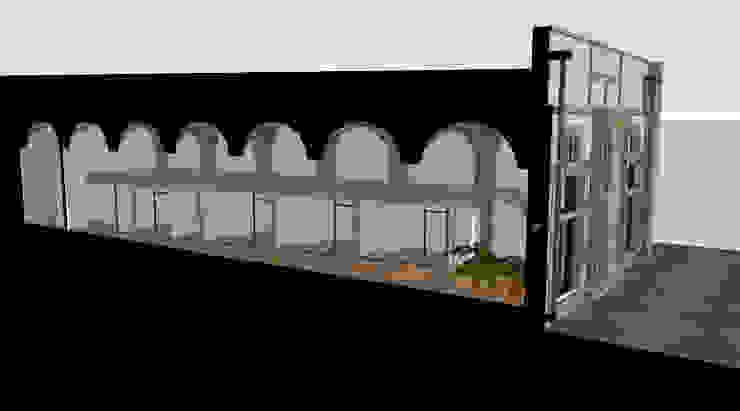 Pasillos, vestíbulos y escaleras modernos de Vincent Athias Architecte DPLG Moderno Concreto reforzado