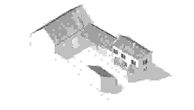 Paredes y pisos de estilo rural de Vincent Athias Architecte DPLG Rural Piedra