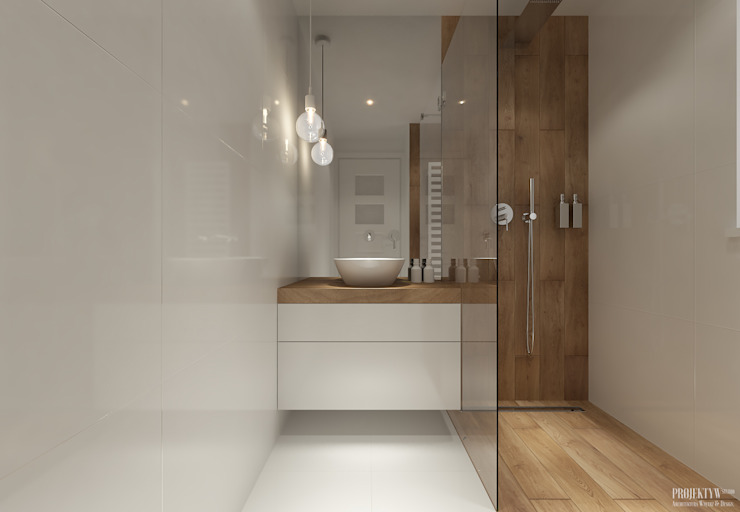 Bathroom by PRØJEKTYW | Architektura Wnętrz & Design, Scandinavian