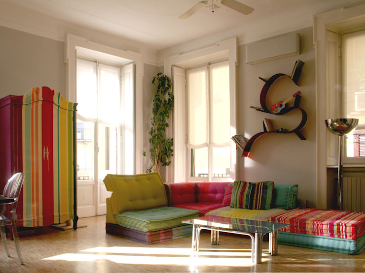 Atelier delle Verdure Eclectic style living room