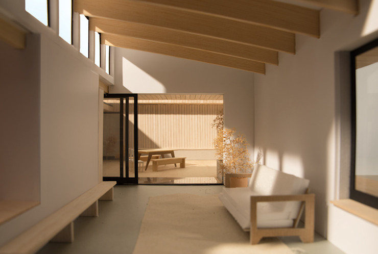 Patio House Moderne woonkamers van Kevin Veenhuizen Architects Modern