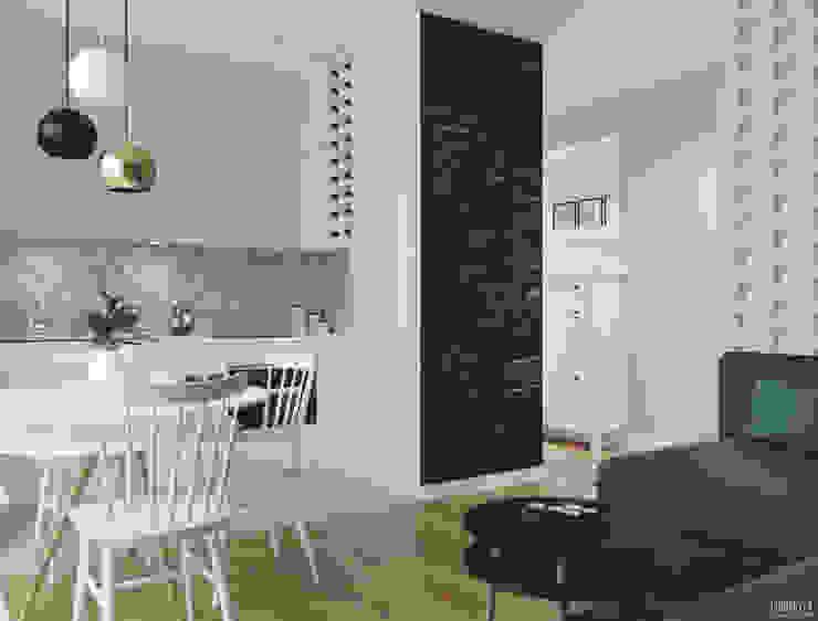 غرفة السفرة تنفيذ PRØJEKTYW | Architektura Wnętrz & Design, إسكندينافي