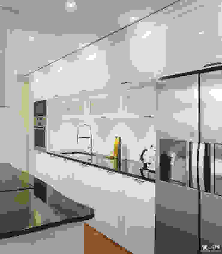 Projekt wnętrz w stylu glamour domu jednorodzinnego w Krynicy Zdrój Klasyczna kuchnia od PRØJEKTYW | Architektura Wnętrz & Design Klasyczny