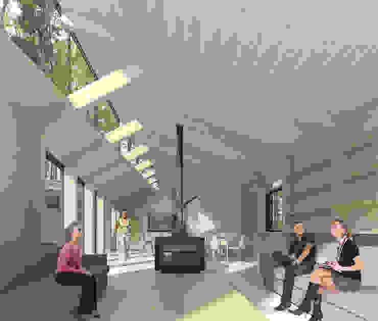 Vista desde Living Livings de estilo moderno de GAALGO Arquitectos Moderno