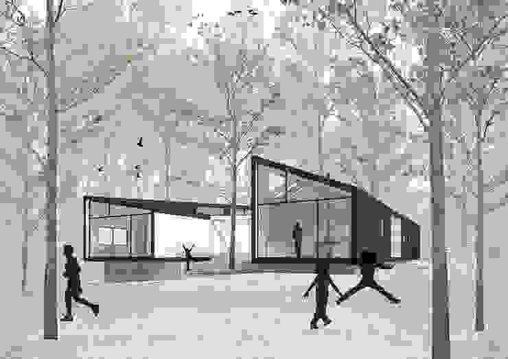Vista patio Casas estilo moderno: ideas, arquitectura e imágenes de GAALGO Arquitectos Moderno