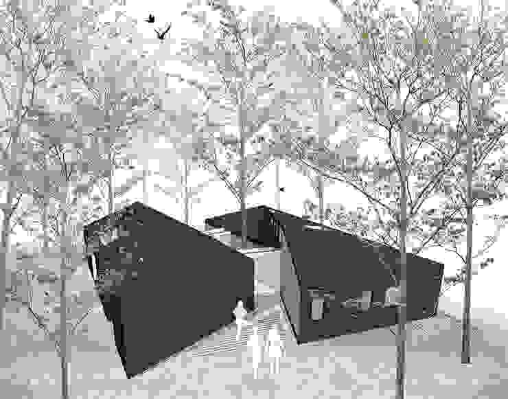 Vista acceso Casas estilo moderno: ideas, arquitectura e imágenes de GAALGO Arquitectos Moderno
