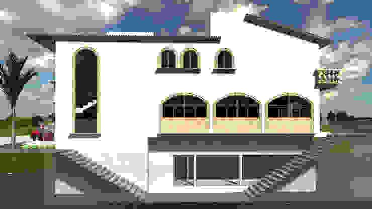 CASA MIRANDA Casas clásicas de SG Huerta Arquitecto Cancun Clásico Piedra