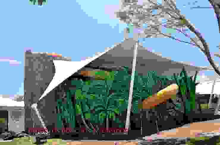 Area de bichos, Jardines de Mexico, Morelos Espacios comerciales de estilo moderno de TENSO DISEÑOS MX Moderno