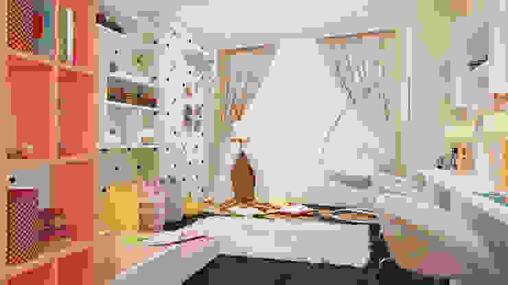 """ЖК """"Триколор"""" Детская комната в стиле модерн от Happy Design Модерн"""