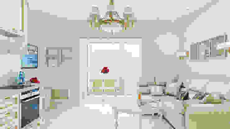 Квартира В Сочи: Гостиная в . Автор – Happy Design, Классический