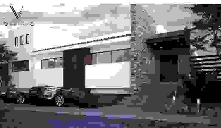 Fachada Principal Casas modernas de V Arquitectura Moderno