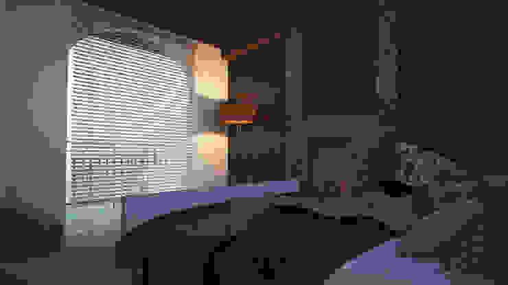 Recamara-Chimenea Dormitorios rurales de V Arquitectura Rural