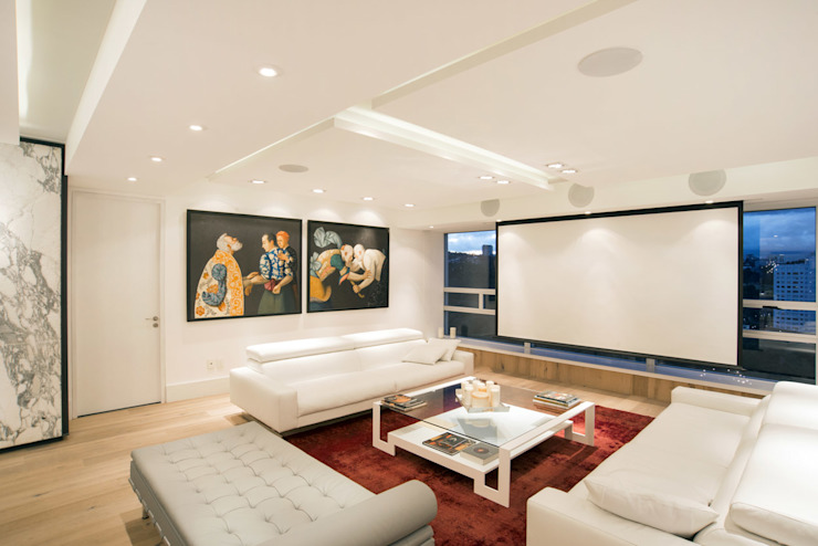 Veramonte II - Sobrado + Ugalde Arquitectos Salones modernos de Sobrado + Ugalde Arquitectos Moderno
