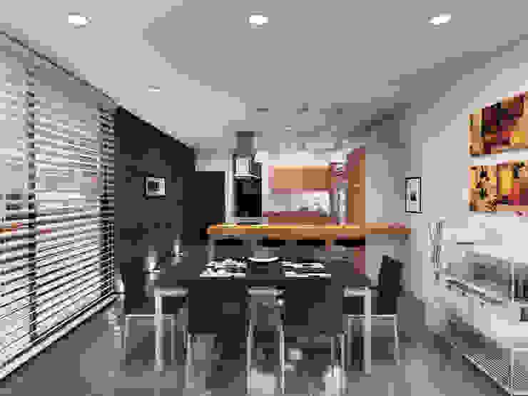 Casa Jurica - Cocina / Comedor Comedores modernos de Bloque Arquitectónico Moderno