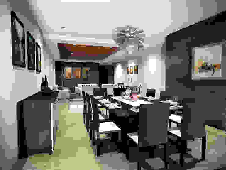 Casa Jurica - Comedor Comedores modernos de Bloque Arquitectónico Moderno