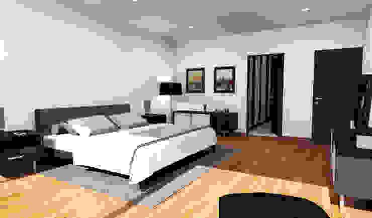 Casa Jurica - Recámara Dormitorios modernos de Bloque Arquitectónico Moderno