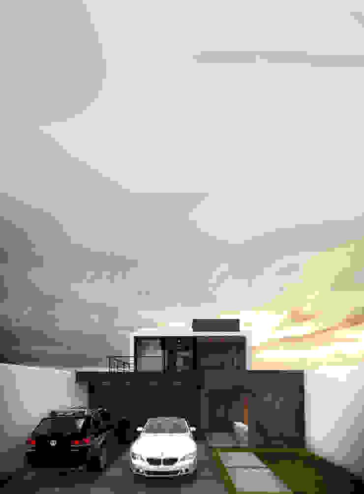 Casa Jurica - Entrada Casas modernas de Bloque Arquitectónico Moderno
