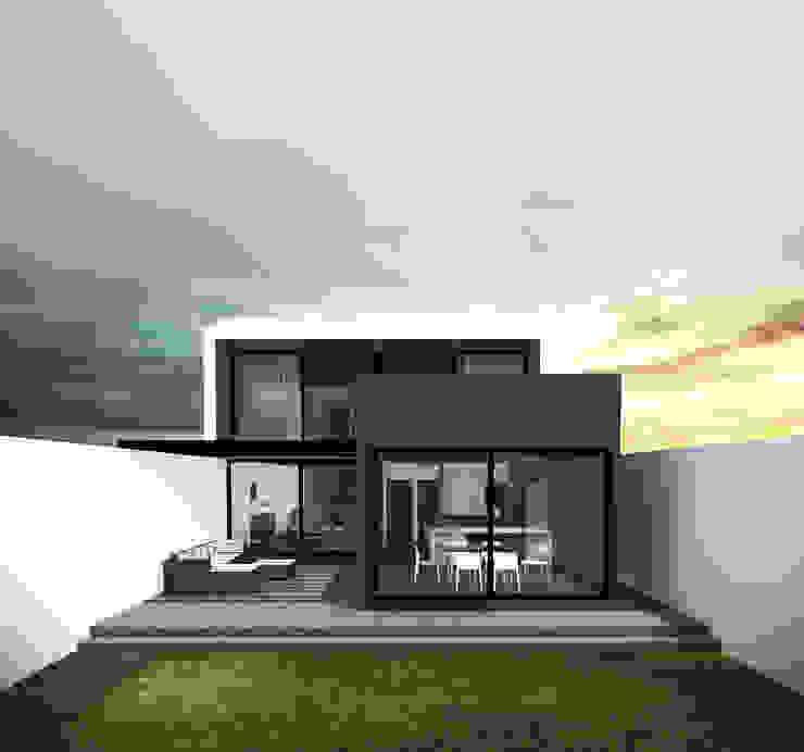Casa Jurica - Vista de jardín Casas modernas de Bloque Arquitectónico Moderno